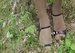 Hose Bondage in Forest