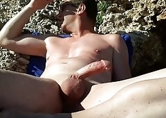stroking at the nude beach