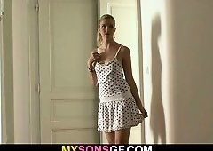 Young blonde cheats with her BF's dad and plus acquires busted