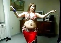 Adult Bbw Arab Mommy Belly Dancing in a Homemade Video