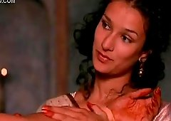 Sexual Lesbian Moment Between Indian Babes Indira Varma and additionally Sarita Choudhury