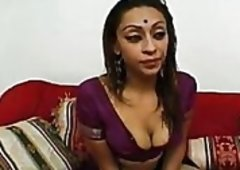 Indian Girlie With Big Natural Tits Opens Her Legs Wide to Receive Beaten