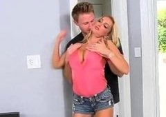 Busty milf Devon acquires picked up for sex