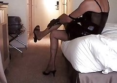 Part 1-2: Mules and additionally Stockings in my hotel room