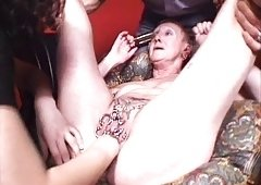 My Raunchy Piercings - obese pierced nasty granny BDSM play