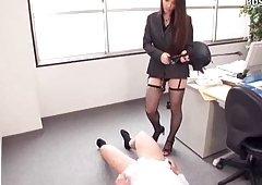 Cruel Dom Strapon Sex Spanking Female Domination