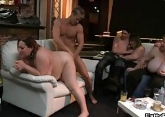 Dirty plumper receives fucked and additionally fisted
