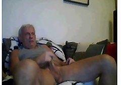 Grandpa masturbate his wang