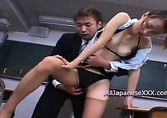 Japanese teacher is XXX bukkake