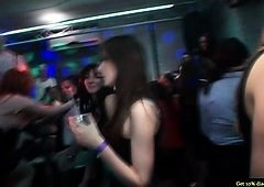 Real party amateur young-looking performs brain