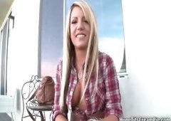 Sexual blond babe goes crazy showing off part3