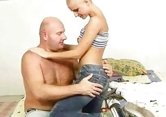 Young Sinead having an intercourse a grandpa