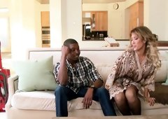 Bored wife has an interracial three-way to spice up her life