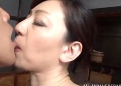 Gorgeous japanese av model sucks cock and additionally receives fucked