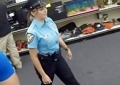 Latina police officer pawned her bawdy cleft